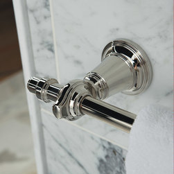 KALLISTA's Inigo Collection by Michael S Smith - Inspired by Mediterranean design, the Inigo collection is perfect for any traditional or contemporary bathroom space. The sconce, console, and basin faucet carry the intricate detail and intrinsic beauty that is prevalent in Mediterranean design, helping to create a luxurious escape.