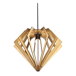 ParrotUncle - Large Diamond Wooden Shade Home Pendant Lamp - Large Diamond Wooden Shade Home Pendant Lamp