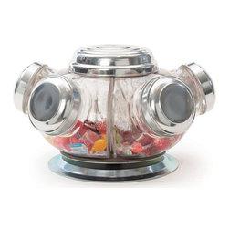 Go Home Ltd - Go Home Ltd Vintage Revolving Candy Jars X-72011 - Go Home Ltd Vintage Revolving Candy Jars X-72011