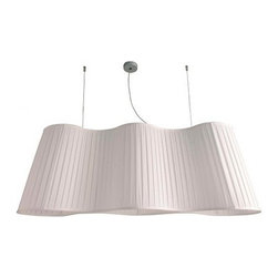 """Dix Heures Dix - Dix Heures Dix La Suspension 3 lamp pendant light - The La Suspension 3 lamp pendant light by Dix Heures Dix has been designed by Fabrice Berrux. This suspension mounted luminaire is perfect for indirect/direct incandescent or compact fluorescent lighting. This fixture is composed of a premium metal canopy with quality suspension cables. The diffuser is in pleated fabric available in the following colors:  Ivory, green, clementine, red, purple, grey, black. This delightful fixture presents a clevor yet classic artful conception, demonstrating the unique and specialized work attributed to french design. Option with a diffusing disc in frosted Plexiglas available upon request. Adjustable height. UL standard compatible.  Product description: The La Suspension 3 lamp pendant light by Dix Heures Dix has been designed by Fabrice Berrux. This suspension mounted luminaire is perfect for indirect/direct incandescent or compact fluorescent lighting. This fixture is composed of a premium metal canopy with quality suspension cables. The diffuser is in pleated fabric available in the following colors:  Ivory, green, clementine, red, purple, grey, black. This delightful fixture presents a clevor yet classic artful conception, demonstrating the unique and specialized work attributed to french design. Option with a diffusing disc in frosted Plexiglas available upon request. Adjustable height. UL standard compatible. Details:                         Manufacturer:            Dix Heures Dix                                    Designer:                         Fabrice Berrux                                         Made in:            France                            Dimensions:                        Height: Max 78.7"""" (200 cm) X Shade Height: 17.7"""" (45 cm) Overall Diameter: 48.8"""" (124 cm)                                         Light bulb::            3 X 75W incandescent or 3 X 23W Compact Fluorescent                            Material:            Premium Metal, Plea"""