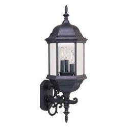 Maxim Lighting - Maxim Lighting 1074CLEB Builder Cast 3-Light Outdoor Wall Mount - Features