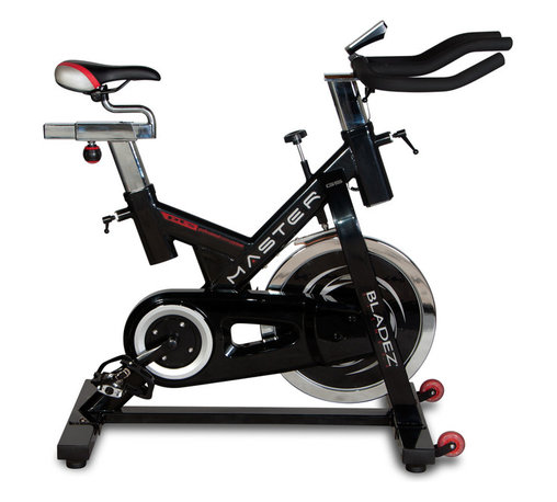 Bladez Fitness - Bladez Master GS Indoor Cycle - With its massive 45lb. flywheel and oversized steel frame, the Master GS brings club performance to the home. Featuring a smooth and silent belt drive system to allow you to watch TV and not disturb your neighbors, as well as full fore/aft and up/down adjustments of both the handlebars and the seat, the Master GS can be customized for the perfect fit regardless of the user size. The easy to read LCD console provides motivational feedback, while the multi-grip racing style handlebars ensure a comfortable workout.