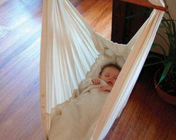Natures Sway Organic Baby Hammock - A baby hammock! My daughter will, hopefully, take peaceful naps in this gorgeous and comfortable organic hammock.