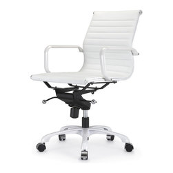 Meelano - M344 Office Chair in All White Everything -