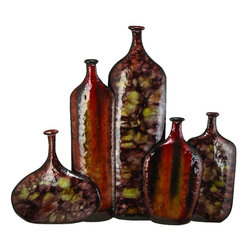 Benzara - Metal Vase Wall Decor Unique Home Decor - The small spaces in office and home filled with nice looking sculptures support the interior decoration in great way. Stores dealing in home decor and furnishing products, offer wide range of small sized table decor accents. 43886 POLYSTONE 64260 Metal VASE WALL DECOR VASE is one of those.