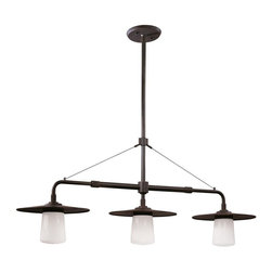 Troy Lighting - Troy Lighting F2313AB Three Light Kitchen Island FixtureEdison Collection - Being a Leader in an Industry requires many attributes.