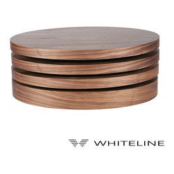 Whiteline Elsy Motion Coffee Table Natural Walnut Veneer - Whiteline Elsy Motion Coffee Table