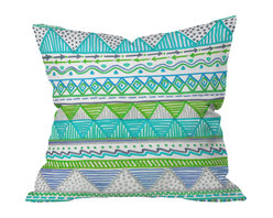 DENY Designs - Lisa Argyropoulos Ocean T 1 Throw Pillow, 16x16x4 - Wanna transform a serious room into a fun, inviting space? Looking to complete a room full of solids with a unique print? Need to add a pop of color to your dull, lackluster space? Accomplish all of the above with one simple, yet powerful home accessory we like to call the DENY throw pillow collection!