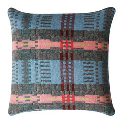 Donna Wilson, SCP - Bora Da Pillow Square - Peach - Donna Wilson, SCP - Bora Da is the new traditionally made Welsh textile designed by Donna Wilson for SCP, it follows on from the popular Nos Da collection from the same mill. The Bora Da fabric is made from British wool that is specially spun and dyed in England and then woven in Wales by a traditional mill that has been in the same family for over a century. Bora Da uses a single ply fine wool, which is both soft and strong. The result is a fine fabric that is lighter in nature than its sister fabric Nos Da. Using a time-honored double cloth weaving technique Donna has been able to create a pleasing multi-layered aesthetic, full of character. SCP and Donna Wilson are delighted to tap into the rich thread of British textile. Made in the UK. Each pillow has a 100% feather insert.