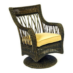 Woodard - Serengeti Swivel Rocker (White) - Fabric: White. Wicker frame. Seat Height: 20 in. H. 28.8 in. W x 27 in. D x 37.8 in. H. All products are made to order. Orders cannot be cancelled after 5 calendar days. If order is cancelled after 5 calendar days, a 50% restocking fee will be applied.