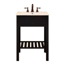 Sagehill Designs - Sagehill Designs PA2421 Parsons 24 in. Single Bathroom Vanity Multicolor - SUNN1 - Shop for Bathroom from Hayneedle.com! Clean and simple is the name of the game with the Sagehill Designs PA2421 Parsons 24 in. Single Bathroom Vanity. This bathroom vanity is made to last from solid wood with a deep espresso finish and modern appeal. The white marble countertop provides great contrast and is more than easy to clean and maintain. About Sagehill DesignsWith Sagehill Designs it s all in the details. Since 1986 Sagehill Designs has been crafting superior quality kitchen and bath furnishings. Rich in detail that matter you ll find heirloom-quality finishes impeccable craftsmanship and generous storage wrapped in a smart design. You get it all with a Sagehill Design original. Sagehill Design s specialists in helping you create the perfect kitchen or bath environment.