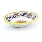 Artistica - Hand Made in Italy - Ricco Deruta: Oval Bowl Baccellato - Ricco Deruta: This product is part of the renown Ricco Deruta Collection.