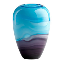 Cyan Design - Callie Vase - Callie vase - turquoise and purple