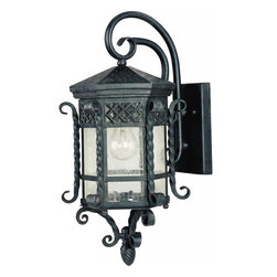 Maxim - Maxim Scottsdale 1-Light Country Forge Seedy Glass Wall Lantern - This 1-Light Wall Lantern is part of the Scottsdale Collection and has a Country Forge finish and Seedy glass. It is Wet Rated and Outdoor Capable.