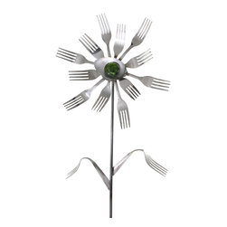 Forked Up Art - Cassiopeia - Flower - A great display for the garden!