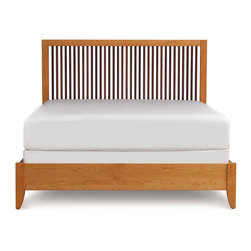 Copeland Furniture - Copeland Furniture Dominion Canaan Platform King Bed with Spindle Headboard 1-CA - Clean honest designs and thousands of options give Dominion unparalleled flexibility. With five distinct headboard designs, finishes, leather and hardware options Dominion melds seamlessly with almost any decor, expressing Copeland's unique design ethos - high quality domestic solid wood furniture, mixing traditional woodworking and modern technology for a soft, highly livable contemporary look.