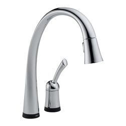Delta - Pilar Single Handle Pull-Down Kitchen Faucet with Touch2O - Delta 980T-DST Pilar Single Handle Pull-Down Kitchen Faucet with Touch2O and Diamond Seal Technology in Chrome.