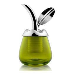 "Olive Oil Pourer ""Fior d'olio"" Stardust Alessi - Olive Oil Pourer ""Fior d'olio"" Stardust Alessi.   Alessi Fior D'olio Olive Oil Pourer at Stardust.   his intricately detailed olive oil pourer from Alessi has been cleverly designed to enhance your oil tasting experience. Made from stainless steel and glass.  From Stardust.com"