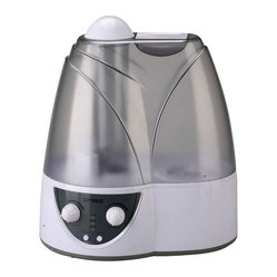 OPTIMUS - OPTIMUS U-31005 2-Gallon Cool Mist Ultrasonic Humidifier - Operates uo to 18 hours;Water empty automatic shut off switch & refill light;Adjustable mist volume control;Easy-to-fill transparent water tank;Built-in ionizer with indicator light;Whisper-quiet operation;Removable tank with handle for easy