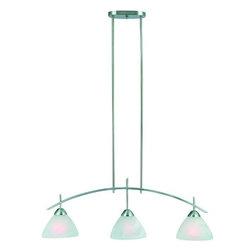 Hardware House - Electrical - 10-0229 3-Light Satin Nickel Kitchen Light - Carlisle 3-Light Kitchen Light