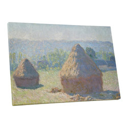 PingoWorld - Claude Monet - Haystacks (End of Summer) Gallery Wrapped Canvas, 30x20x1.25 - Haystacks (End Of Summer) by Claude Monet.