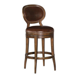 EuroLux Home - New Swivel Counter Stool Oval Back Brown - Product Details