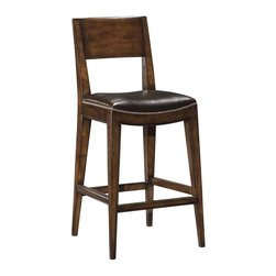 EuroLux Home - New Saddle Seat Counter Stool Brown Top - Product Details