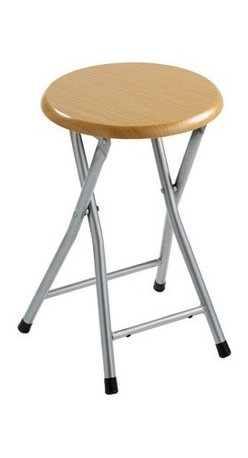 Gedy - Foldable Stool Crafted Made of MDF and Steel - A floor standing contemporary stool that is made in steel and MDF and finished in pearlwood.