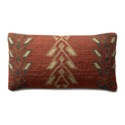 Grandin Road - Mersin Kilim Throw Pillow - Durable cotton backing. Zippered closure. Plump polyester fill. Dry clean only. Pillow inserts are vacuum packed to minimize shipping costs – simply fluff to restore shape. Exciting patterns and rich colors make our Kilim Indoor Throw Pillows timeless favorites. Covers are crafted on traditional kilim looms, making each pillow a one-of-a-kind creation.  .  .  .  .  . Imported.