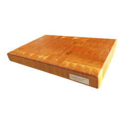 Fable Porch Furniture - End Grain Cherry Butcher Block - Our Cherry Butcher Block is hand-made from solid cherry wood with end grain construction for lasting durability.