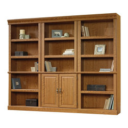 Sauder - Sauder Orchard Hills Wall Bookcase in Carolina Oak - Sauder - Bookcases - 4021723PKG