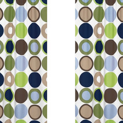 Sweet Jojo Designs - Designer Dot Print Window Panel - Set of 2 by Sweet Jojo Designs - The Designer Dot Print Window Panel - Set of 2 by Sweet Jojo Designs, along with the  bedding accessories.