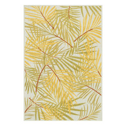 """Loloi Rugs - Loloi Rugs Catalina Collection - Ivory / Lime, 9'-2"""" x 12'-1"""" - Made of very weather-resilient polypropylene, the Catalina Collection features indoor/outdoor rugs with bold patterns and can't-miss, vibrant colors that look amazing in indoor or outdoor spaces. Each design is power loomed in Egypt and tested withstand UV rays and sunshine."""