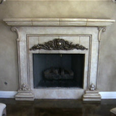 mediterranean fireplaces by Realm of Design