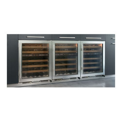 "Sub-Zero 24"" Built-in Dual Zone Wine Storage, Stainless Steel 