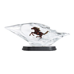 Franz Porcelain - FRANZ PORCELAIN COLLECTION Horse Lucite Sculpture FL00110 - Finished In Lead Free Glazes * Hand Painted By Franz Porcelain Artisans * FDA Approved Food/Plant Safe * New In The Original Box