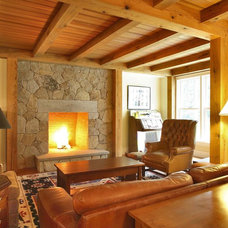 Rustic Family Room by Callaway Wyeth