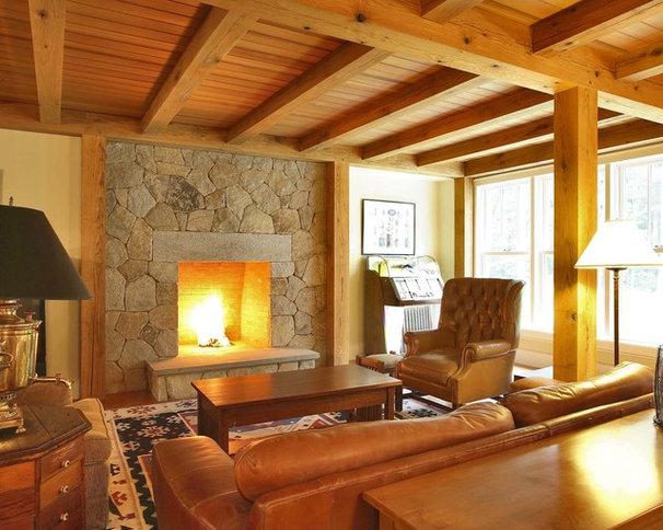 Rustic Family Room by Callaway Wyeth