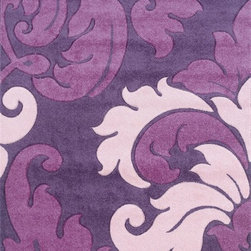 "Linon - Contemporary Corfu 8'x10'3"" Rectangle Purple-Baby Pink Area Rug - The Corfu area rug Collection offers an affordable assortment of Contemporary stylings. Corfu features a blend of natural Purple-Baby Pink color. Machine Made of 100% Heat Set Frieze Yarn Pile the Corfu Collection is an intriguing compliment to any decor."
