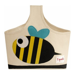 3 Sprouts - 3 Sprouts Storage Caddy, Bee - Our 3 Sprouts black & yellow caddy in cute bee pattern is the perfect organizational solution for any nursery. Made of sturdy canvas this caddy is the perfect tote for all those nursery items from diapers to lotions you need in one spot and ready to go. And when Mom or Dad are finished with it, the 3 Sprouts caddy makes a perfect art tote for one's little Picasso.