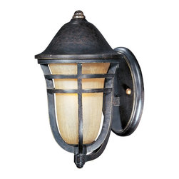 Maxim Lighting - Maxim Lighting Westport VX Traditional Outdoor Wall Sconce X-TACM20104 - This Maxim Lighting Westport VX Traditional Outdoor Wall Sconce will add a touch of sophistication to any space. It features a mocha cloud shade enclosed in a beautifully designed frame in a stunning Artesian bronze finish. This 12-inch-tall fixture is durable as it's made with Vivex, a non-corrosive and UV resistant material.
