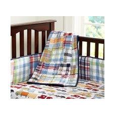 Madras Nursery Quilt, Navy