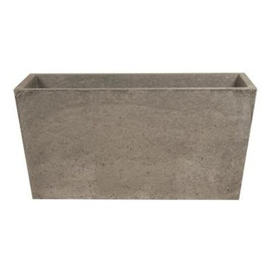 """Hart Concrete Design - Trough Pot in Iron, 18"""" - The Trough Pot is Handmade to order in the Unites States by Hart Concrete Design. Featuring a bold design that rivals the typical planter, they make a great accent to any landscape and could also be used indoors."""