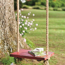Rope Tree Swing with Wooden Seat - Who doesn't love a tree swing? This one is kid sized.