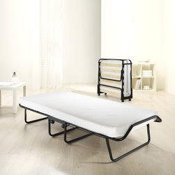 None - Jay-be Sussex Folding Bed - Get a good night's rest without the hassle and wait of other portable beds with this folding bed from Jay-Be. This comfortable bed features 360-degree casters for improved mobility to make getting it out for your guests a breeze.
