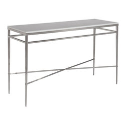 EuroLux Home - New Polished Nickel Console Table White - Product Details