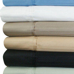 "Bed In A Bag - 21"" Deep Pocket - 1000TC Striped Egyptian Cotton Bed Sheet Sets - Come Experience The Finest Egyptian Cotton Sheets! We are one of the only manufactures who use a brand new, advanced weaving technology, which increases the sheets durability, extends the life, and creates a softness like no other!  Superior Single Ply Yarns 1000TC100% Organic Egyptian Cotton. Fits up to 21 inch Mattress with elastic all the way around for proper fit."