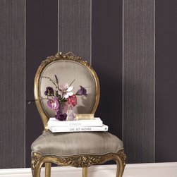 Graham & Brown - Bold Stripe Wallpaper - Bold Stripe is visually stunning, hung vertically or horizontally, the metallic accents combined with the matt, velvety finish creat a fabulous look for any home
