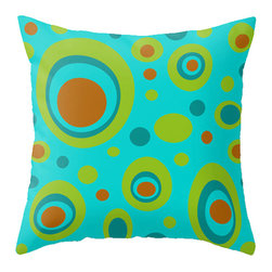 Crash Pad Designs - 50's Inspired Throw Pillow, Decorative Pillow by Crash Pad Designs - A fun pillow can change an entire room. Style your room with this mod & playful pillow. On a sofa, a chair, or bed it's sure to make you smile. Double sided print pillow, made from 100% spun polyester poplin fabric w/ a hidden zipper closure & a polyester fill insert.. Original Crash Pad Designs fabric.