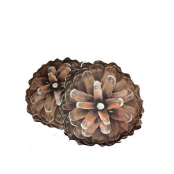 SNOKU - Pine Cone Pillow - Pine Cone Pillow made by hand: from pictures used on the fabrics to the final decorative stitch used as a personal signature. The birch image is custom printed on cotton-canvas.